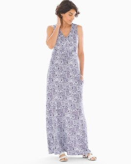 4862a57fda Soft Jersey V Neck Maxi Dress Retro Dash Mini White