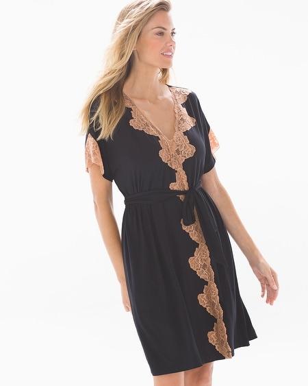 62d15b241698b Cool Nights Lingerie Lace Robe Black