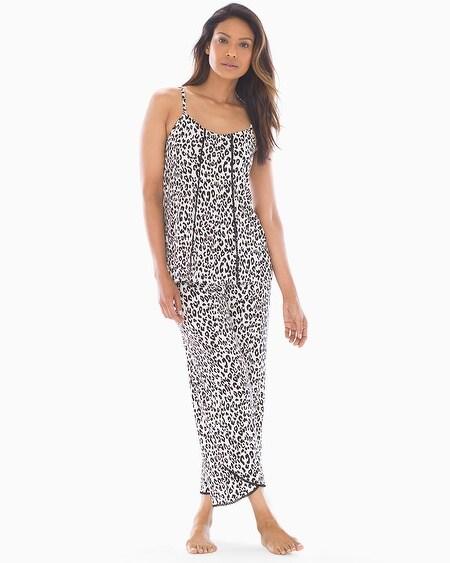 bef11024e Cool Nights Pom Trim Tulip Crop Pajama Pants Leopard Mini Ivory