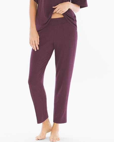Ankle Pajama Pants Heather Marsala