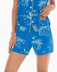 Cool Nights Pajama Shorts French Riviera