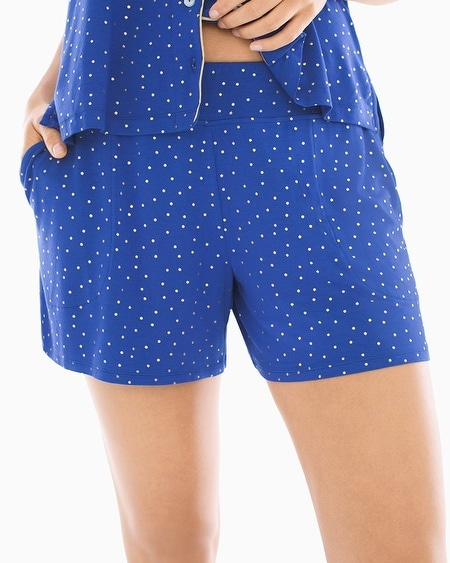 Cool Nights Full Tap Pajama Shorts Festivity Dot Gold Foil