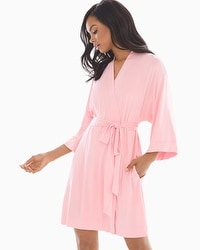 Cool Nights Short Robe Pink Icing