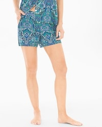Cool Nights Pajama Shorts Saint Tropez Navy