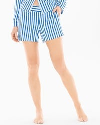 Cool Nights Pajama Shorts Capri Stripe