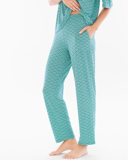 Ankle Pajama Pants Dynamic Dot Wasabi