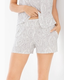 Cool Nights Pajama Shorts Delicate Scoll Ivory