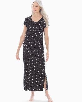 Short Sleeve Long Sleepshirt Winsome Dot Rose by Cool Nights
