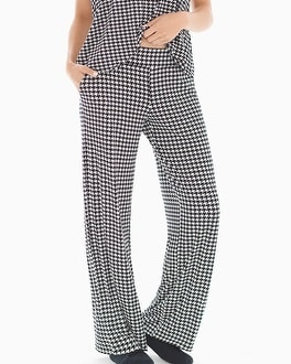 Cool Nights Pajama Pants Houndstooth Ivory TL