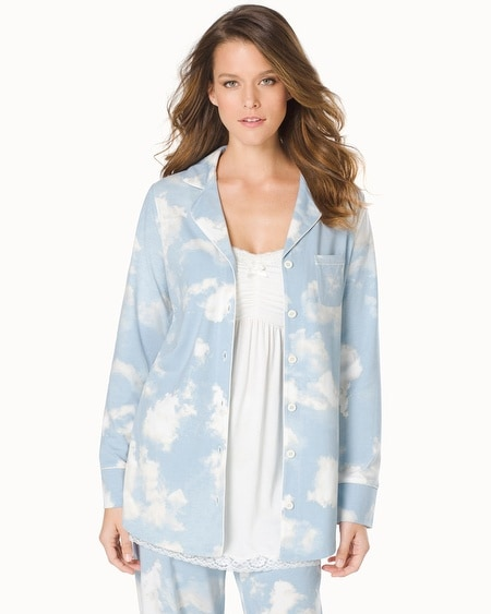 Long Sleeve Pajama Top Clouds Celestial