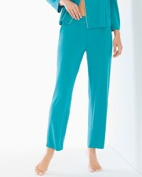 Cool Nights Ankle Pajama Pants Pagoda Blue