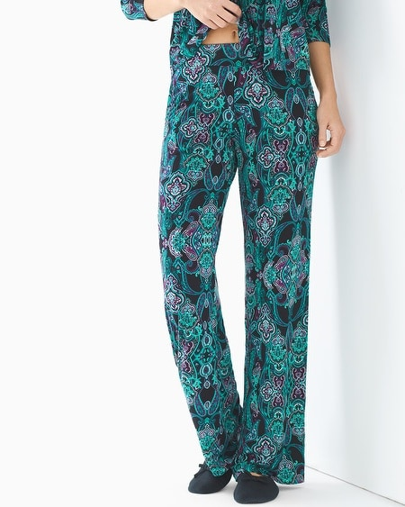 Pajama Pants Whimsical Scroll Black TL