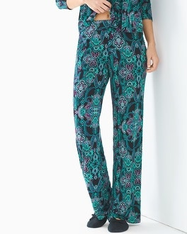 Cool Nights Pajama Pants Whimsical Scroll Black TL
