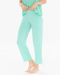 Cool Nights Ankle Pajama Pants Stay in Bed Pool Green