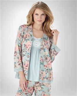 Embraceable Cool Nights Fragrant Bouquet PJ Top