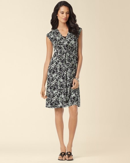 Bethany Dress Powdered Petals Green