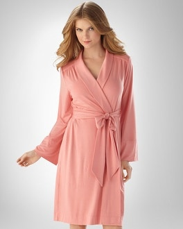 Embraceable Cool Nights Carnation Short Robe