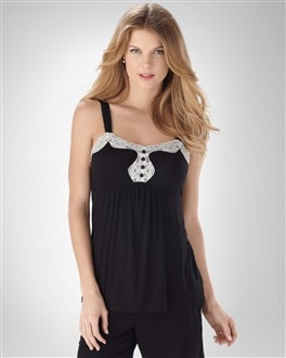 Embraceable Cool Nights Black PJ Cami