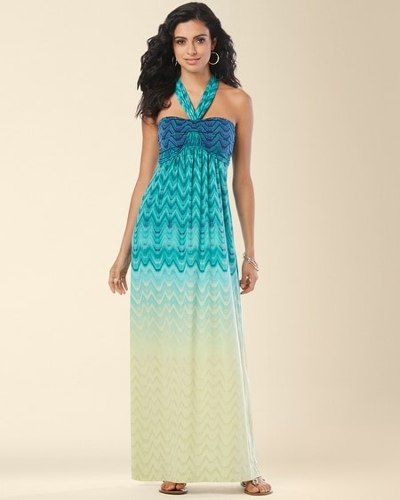 Faye Maxi Dress Tile Ombre