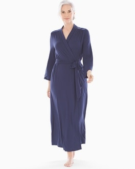 Cool Nights Long Robe Navy