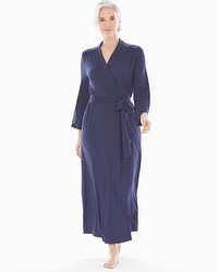 Embraceable Cool Nights Long Robe Navy