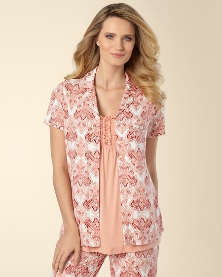 Elegance Short Sleeve PJ Top