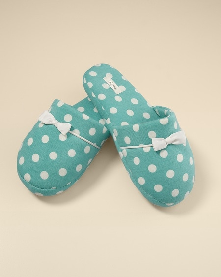 Cool Nights Big Dot Teal Slippers