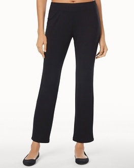 Live.Lounge.Wear. Divine Terry Ankle Pants Black