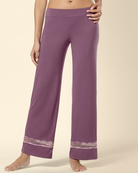 Deco Lace Sleep Pant Amethyst