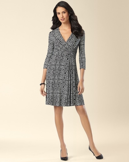 Side-Twist Dress Twisted Scroll