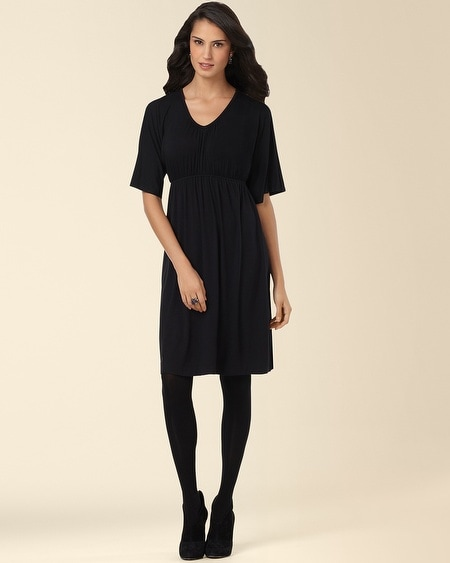 Kimono Sleeve Dress Black