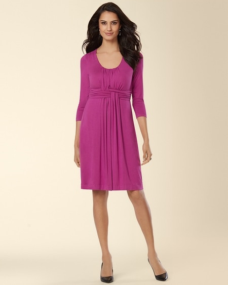 3/4 Sleeve Wrapped Waist Dress Viola