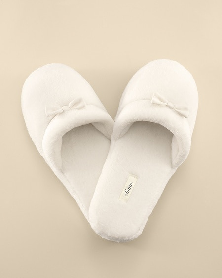 Plush Slipper Ivory