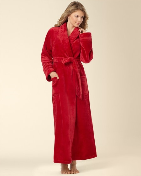 Plush Long Robe Ruby