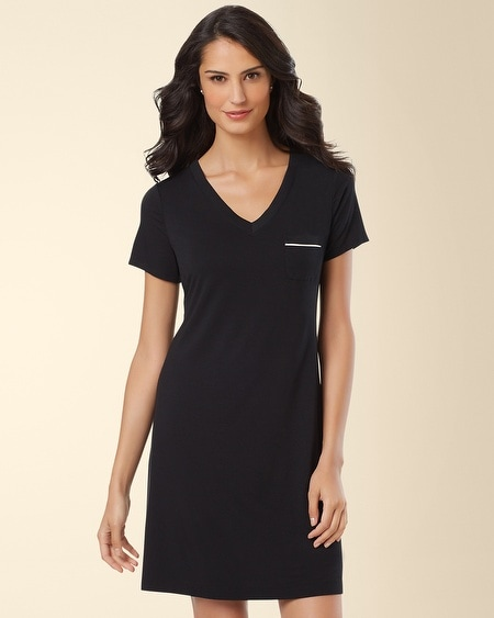 Short Sleeve Sleepshirt Black