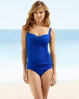 La Blanca Sweetheart Swim Tankini Top Blueberry