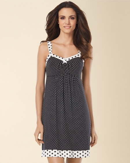 Sleep Chemise Mod Dot Black