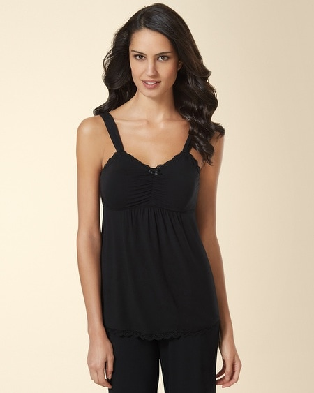 Lace Sleep Cami Black