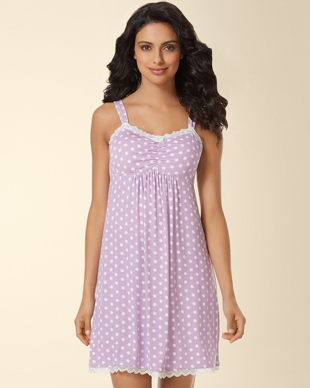 Lace Sleep Chemise Big Dot Faded Orchid