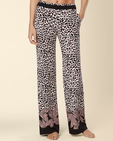 Long Inseam Pajama Pant Paisley Scarf Border