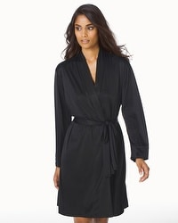 Natori Slinky Short Robe Black