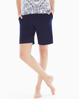 Cool Nights Bermuda Pajama Shorts Navy