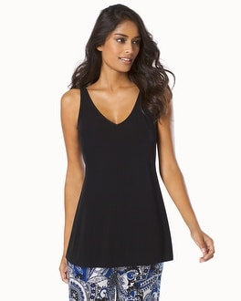 Charmed Collection Swing Pajama Tank Black