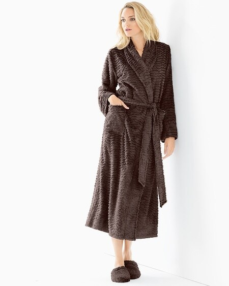 Luxe Marble Long Robe Java