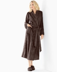Embraceable Luxe Marble Long Robe Java