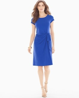 Leota Short Sleeve Madison Short Dress Cobalt