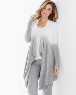 Barefoot Dreams Chic Lite Calypso Wrap Ombre Pearl/Pewter