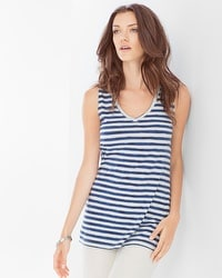 Premium Cotton Tank Amazing Stripe Navy