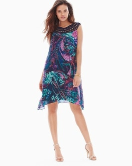 Chiffon Overlay Short Dress Sensational Navy