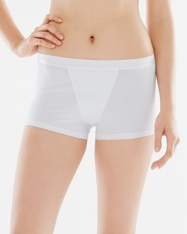 Naked Essential Cotton Blend Boyshort White